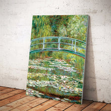 Load image into Gallery viewer, Impressionist Famous Painting Monet's Pond with Water Lilies Poster Print on Canvas Wall Art Painting for Living Room Home Decor - SallyHomey Life's Beautiful