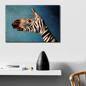 Frameless Wall Decoration Posters Print On Canvas Wall Art Canvas Painting Abstract Zebra is Painted on the Hand for Room Wall - SallyHomey Life's Beautiful