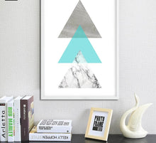 Load image into Gallery viewer, Geometric Marble Arrow Wall Art Canvas Posters Prints Nordic Style Abstract Painting Minimalist Wall Pictures for Living Room - SallyHomey Life's Beautiful