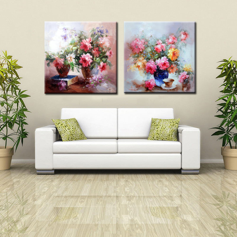 🔥Abstract Art Flowers in the Bottle Canvas Painting Hand Painting Print Poster Wall Art Picture Wall Decoration Home Dceor Gift - SallyHomey Life's Beautiful