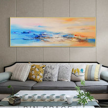 Load image into Gallery viewer, Modern Abstract Oil Painting Posters and Prints Wall Art Canvas Painting Colorful Cloud Pictures for Living Room Decor No Frame - SallyHomey Life's Beautiful