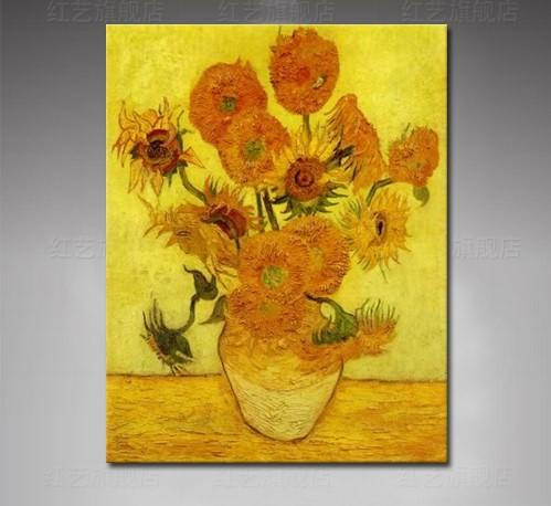 High quility 100% Hand Painted Van Gogh Sunflower Painting on Canvas flower Oil Painting wall art  Home Decor For Living Room