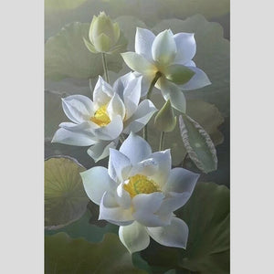 100% Hand painted Super Realistic Lotus Flowers High-Quality Art Oil Painting On Canvas Wall Art Wall Painting For Home Decor