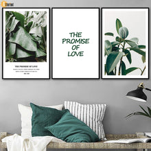 Load image into Gallery viewer, Tropical Banana Leaf Rubber Tree Wall Art Canvas Painting Nordic Posters And Prints Wall Pictures For Living Room Home Decor - SallyHomey Life's Beautiful
