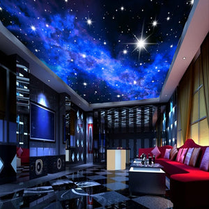 3D Night Stars Ceiling Art Wall Painting Modern Living Room Bedroom Ceiling Decoration Wall Cloth