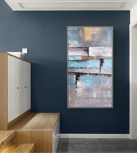Wall painting Abstract hand painted painting canvas lienzos cuadros decorativos vertical large size wall art for living room - SallyHomey Life's Beautiful