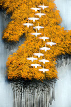 Load image into Gallery viewer, Abstract The Wild Geese Flying over the Forest Poster Prints on Canvas - SallyHomey Life's Beautiful
