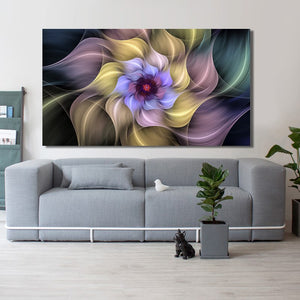 Abstract Beautiful Dream Crystal Surreal Flower Fractal Decorative Painting - SallyHomey Life's Beautiful