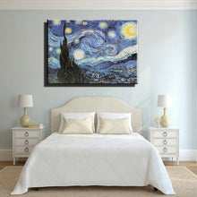 Load image into Gallery viewer, famous artist Starry night reproduction van gogh oil painting wall art picture modern abstract canvas paintings in living room - SallyHomey Life's Beautiful