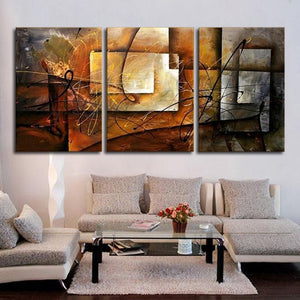 Hand Painted Modern Abstract Oil Painting Wall Art Canvas Set 3 Panel Realistic Home Decoration Picture For Kitchen Living Room - SallyHomey Life's Beautiful