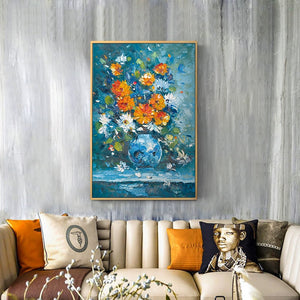 100% Hand Painted Abstract Bonsai Flowers Oil Painting On Canvas Wall Art Frameless Picture Decoration For Live Room Home Decor