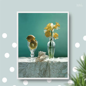 Modern Posters and Prints Wall Art Canvas Painting Colorful Flowers In the Vase Pictures Wall Decoration for Living Room Wall - SallyHomey Life's Beautiful