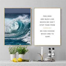 Load image into Gallery viewer, Modern Seascape Poster And Prints Wall Art Canvas Painting Wall Pictures For Living Room Nordic Home Decoration No Frame 50X70CM - SallyHomey Life's Beautiful