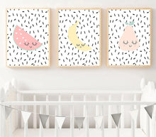 Load image into Gallery viewer, Cute Fruit Apple Banada Wall Art Canvas Posters Nursery Prints Nordic Style Painting Picture Kid Baby Bedroom Decoration - SallyHomey Life's Beautiful