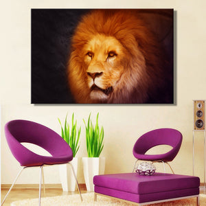 Animals Posters and Prints Wall Art Canvas Painting Lions Pictures Home Decoration for Living Room Wall Frameless Gifts - SallyHomey Life's Beautiful