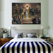 Load image into Gallery viewer, Jesus Come to Earth Oil Painting Poster On Canvas - SallyHomey Life's Beautiful