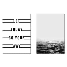 Load image into Gallery viewer, Ocean Sea Landscape Wall Art Canvas Poster Motivational Nordic Minimalist Print Painting Wall Picture for Living Room Home Decor - SallyHomey Life's Beautiful