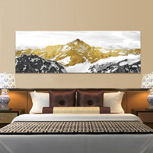 Load image into Gallery viewer, Abstract Golden Mountain Oil Painting For Living Room Home Decor - SallyHomey Life's Beautiful