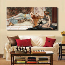 Load image into Gallery viewer, Posters and Prints Wall Art Canvas Painting Mischief and Repose by John William Waterhouse Wall Pictures for Living Room Decor - SallyHomey Life's Beautiful