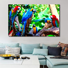 Load image into Gallery viewer, Modern Animal Posters and Prints Wall Art Canvas Painting On Canvas Home Decor Colorful Parrot Pictures For Living Room No Frame - SallyHomey Life's Beautiful