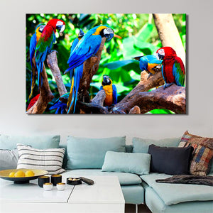 Modern Animal Posters and Prints Wall Art Canvas Painting On Canvas Home Decor Colorful Parrot Pictures For Living Room No Frame - SallyHomey Life's Beautiful