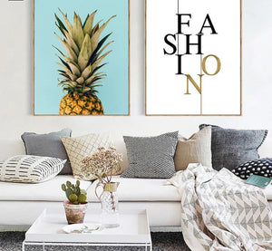 Pineapple Nordic Poster and Prints Minimalist Wall Art Canvas Painting Canvas Picture for Living Room Home Decor - SallyHomey Life's Beautiful