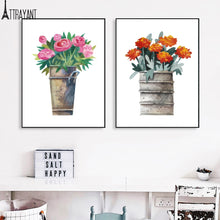 Load image into Gallery viewer, Plum Tulip Rose Oil Painting Wall Art Print Canvas Painting Nordic Posters And Prints Plants Wall Pictures For Living Room Decor - SallyHomey Life's Beautiful