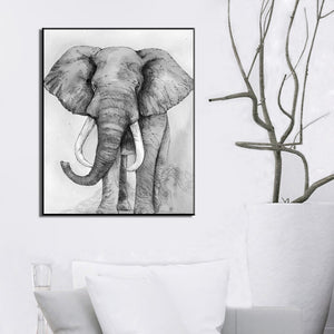 Modern Abstract Animal Posters And Prints Wall Art Canvas Painting Cow Pictures For Living Room Wall Home Decoration Frameless - SallyHomey Life's Beautiful