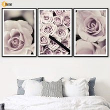 Load image into Gallery viewer, Fresh Pink Flowers Rose Plant Wall Art Canvas Painting Nordic Posters And Prints Wall Pictures For Living Room Bedroom Decor - SallyHomey Life's Beautiful
