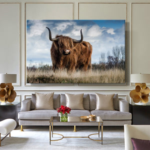 Modern Animals Posters and Prints Wall Art Canvas Painting Aritistic Yak and Cock Picture Wall Decor for Living Room Home Decor - SallyHomey Life's Beautiful