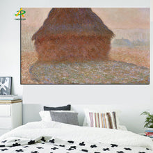 Load image into Gallery viewer, Abstract Canvas Painting Claude Monet The Haystack in Winter Morning Oil Picture Digital Printed for Living Room Home Wall Decor - SallyHomey Life's Beautiful