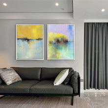 Load image into Gallery viewer, wall painting living room 2 panel Oil painting on canvas handmade Modern abstract dinning room cuadros pared decorativas art - SallyHomey Life's Beautiful