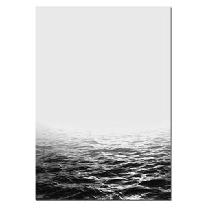 Ocean Sea Landscape Wall Art Canvas Poster Motivational Nordic Minimalist Print Painting Wall Picture for Living Room Home Decor - SallyHomey Life's Beautiful