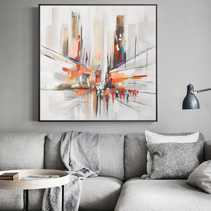 Modern Abstract Oil Painting on Canvas Wall Art Posters Print Watercolor Streetscape Decorative Pictures for Living Room Decor - SallyHomey Life's Beautiful