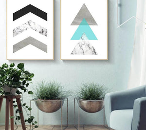 Geometric Marble Arrow Wall Art Canvas Posters Prints Nordic Style Abstract Painting Minimalist Wall Pictures for Living Room - SallyHomey Life's Beautiful