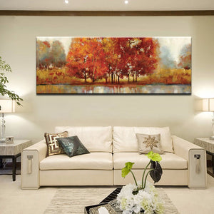 Modern Abstract Landscape Art Craft Painting Hand Painting Print on Canvas Oil Painting for Living Room Home Wall Decoration - SallyHomey Life's Beautiful