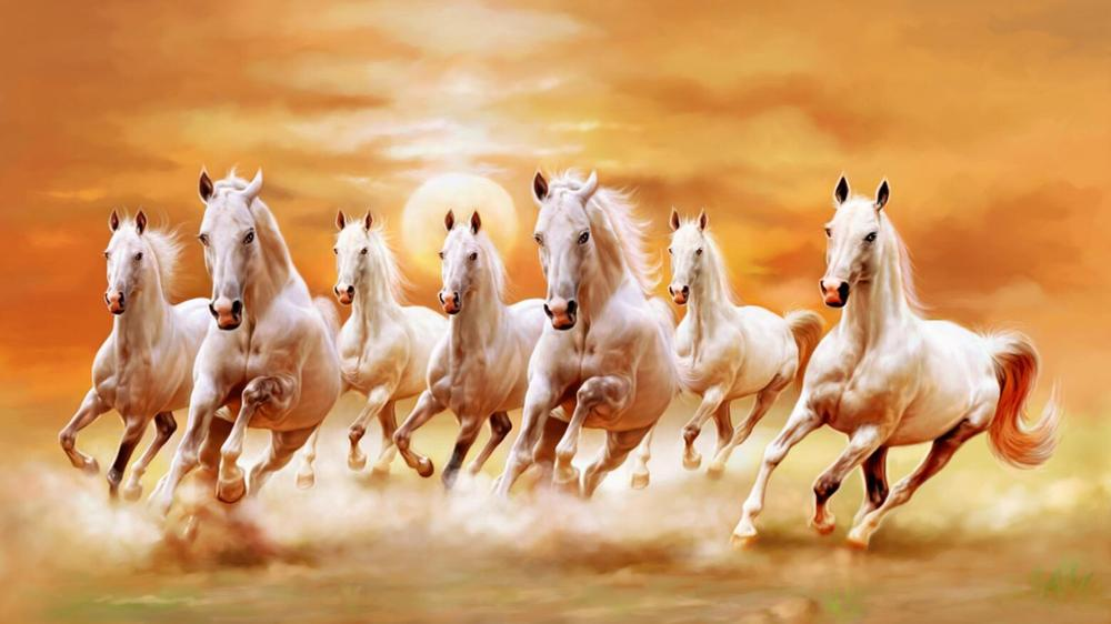 Modern Canvas Painting Galloping Horse Pictures HD Printed Poster On Wall Art Painting for Living Room Home Decor Gift Frameless - SallyHomey Life's Beautiful