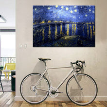 Load image into Gallery viewer, Famous Painting Posters and Prints Wall Art Canvas Painting Starry Night Over the Rhone by Van Gogh Home Decor For Living Room - SallyHomey Life's Beautiful
