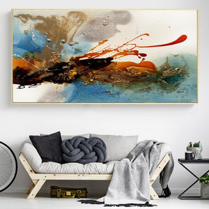 Colorful Rhythm Pictures for Living Room Decor No Frame - SallyHomey Life's Beautiful
