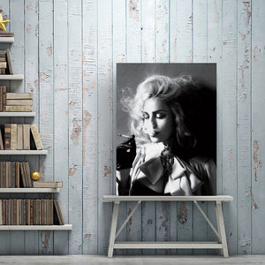 🔥 Modern Black and White Poster Prints Wall Art Canvas Painting Beautiful Women Smoking Cigarettes Photos for Living Room Decor - SallyHomey Life's Beautiful