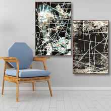 Load image into Gallery viewer, Classical abstract Line Handprint Decorative Canvas Painting Posters and Prints Wall Art Pictures for Living Room Nordic Decor - SallyHomey Life's Beautiful