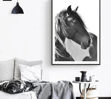 Load image into Gallery viewer, Horse Sea Wall Art canvas Poster Landscape Print Minimalist Nordic Decoration Painting Decorative Picture - SallyHomey Life's Beautiful