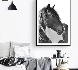 Horse Sea Wall Art canvas Poster Landscape Print Minimalist Nordic Decoration Painting Decorative Picture - SallyHomey Life's Beautiful