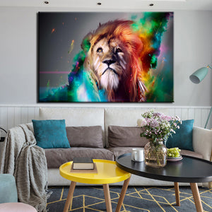 70x100cm - Abstract Animals Posters and Prints Wall Art Canvas Painting Horse And Lion Pictures For Living Room Home Decoration - SallyHomey Life's Beautiful