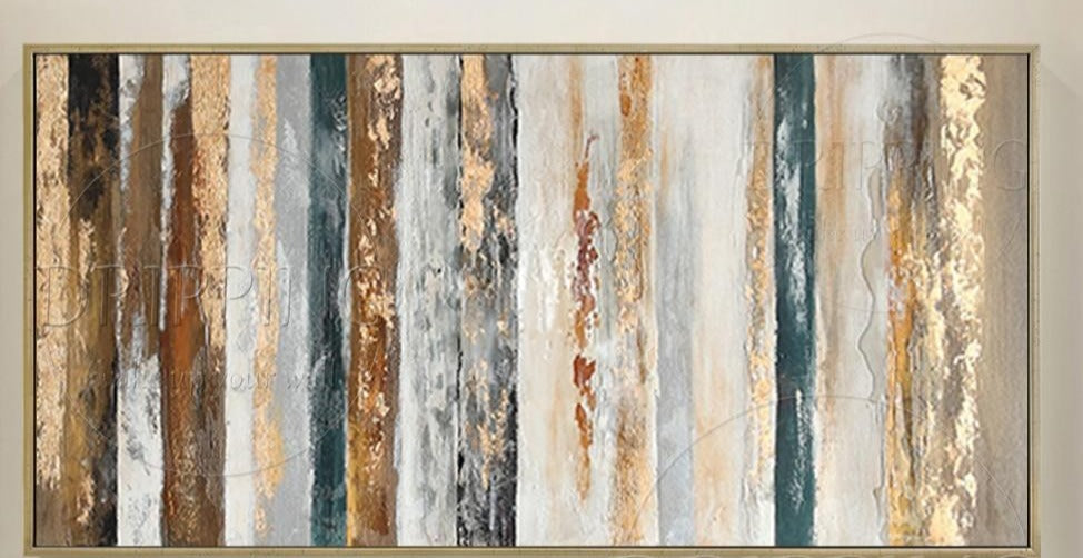 New Arrivals Hand-painted High Quality Contemporary Abstract Oil Painting on Canvas Large Canvas Painting Abstract Gold Painting - SallyHomey Life's Beautiful