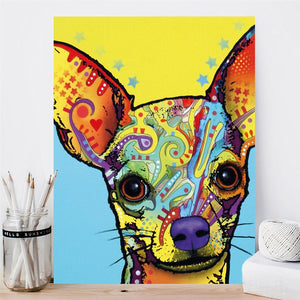 Modern Abstract Art Posters and Prints on Canvas Wall Art Painting Watercolor Pet Dogs Decorative Painting for Kids Room Decor - SallyHomey Life's Beautiful