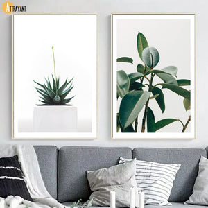 Tropical Banana Leaf Rubber Tree Wall Art Canvas Painting Nordic Posters And Prints Wall Pictures For Living Room Home Decor - SallyHomey Life's Beautiful