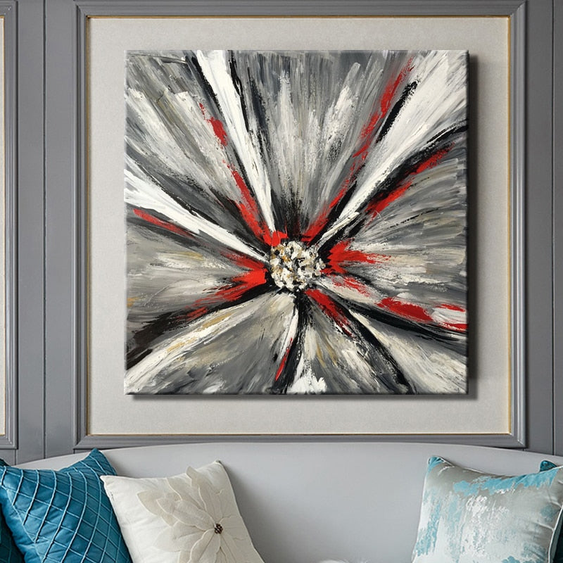 Modern Abstract Posters and Prints Wall Art Canvas Painting Wall Decoration Hand Made Flower Pictures For Living Room Frameless - SallyHomey Life's Beautiful