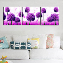 Load image into Gallery viewer, Modern 3 Modules Flower Posters and Print Wall Art Canvas Painting Royal Purple Allium Giganteum Wall Decoration For Living Room - SallyHomey Life's Beautiful