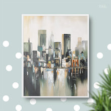 Load image into Gallery viewer, Modern Abstract Oil Painting on Canvas Wall Art Manhattan Bridge Posters Print Wall Decorative Pictures for Living Room Decor - SallyHomey Life's Beautiful